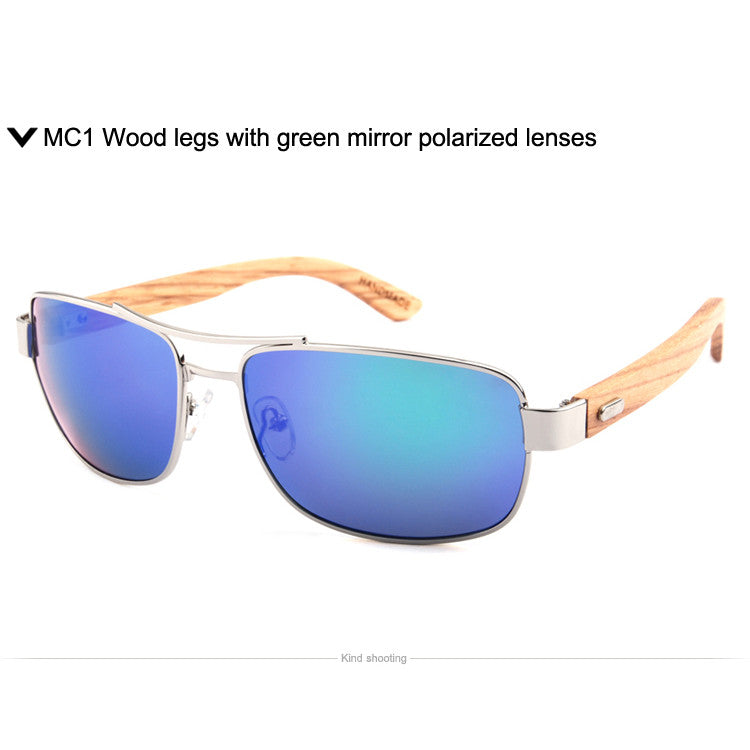 100% natural wood sunglasses mirror polarized lenses with wooden arms glasses for unisex 1071 - SustainTheFuture.us - The Natural and Organic Way of Life