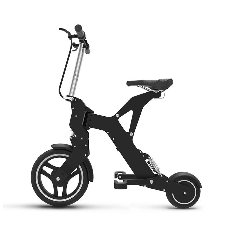 AK- ultra portable folding electric bicycle riding two wheeled bicycle lithium battery - SustainTheFuture.us - The Natural and Organic Way of Life