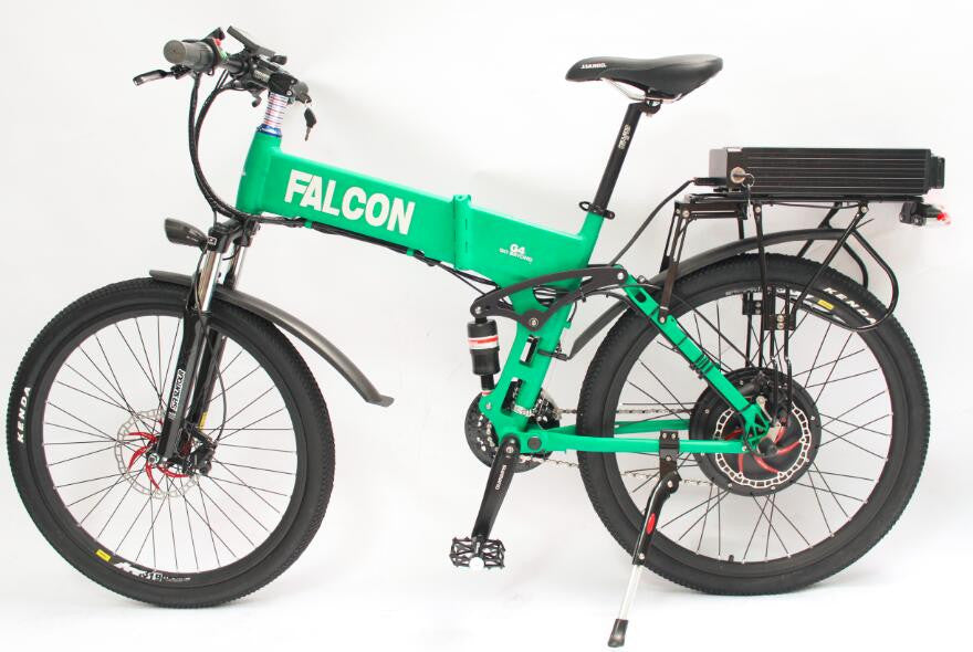 48V 750W Electric Bike Foldable Bicycle Foldable Frame Ebike + 48V 13.2Ah Li-ion Battery Full Suspension With 2A Charger - SustainTheFuture.us - The Natural and Organic Way of Life