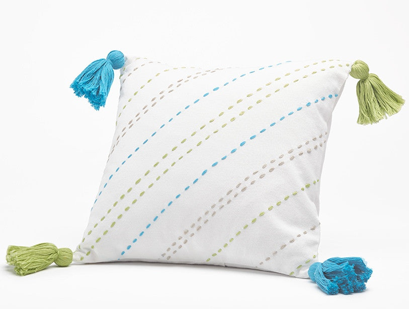 Tassel Pillow. Organic, Natural, hypoallergenic