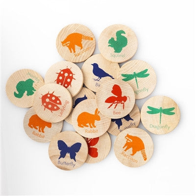 Tree Hopper Wooden Games - Match Stacks - Backyard Creatures