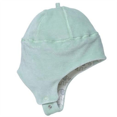 Under the Nile Organic Baby Clothes - Sage Green Ear Flap Hat