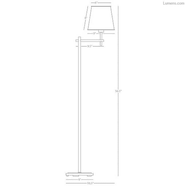 Aiden Floor Lamp By Robert Abbey