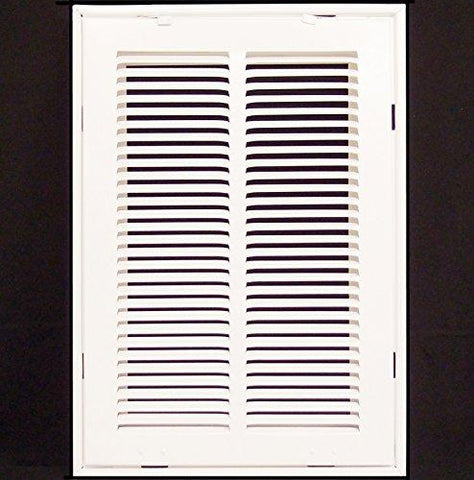 12 X 18 Steel Return Air Filter Grille for 1 Filter - Removable Face/Door - HVAC DUCT COVER - Flat Stamped Face - White-Kitchen-HVAC Premium-Helmetdon