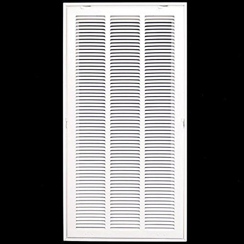 14 X 30 Steel Return Air Filter Grille for 1 Filter - Fixed Hinged - Ceiling Recommended - HVAC Duct Cover - Flat Stamped Face - White-Kitchen-HVAC Premium-Helmetdon