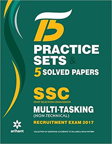 15 Practice Sets & 5 Solved Papers SSC Multi-tasking (Non-Technical) Group 'C' Recruitment Exam 2017-Books-TBHPD-Helmetdon