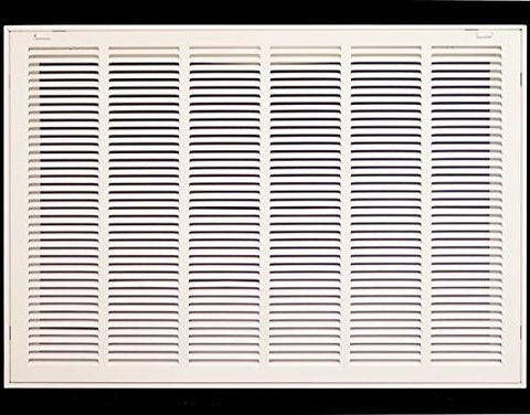30 X 22 Steel Return Air Filter Grille for 1 Filter - Fixed Hinged - Ceiling Recommended - HVAC Duct Cover - Flat Stamped Face - White-Kitchen-HVAC Premium-Helmetdon