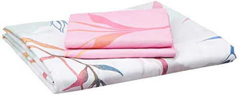 Bombay Dyeing Cynthia Polycotton Double Bedsheet with 2 Pillow Covers - Pink