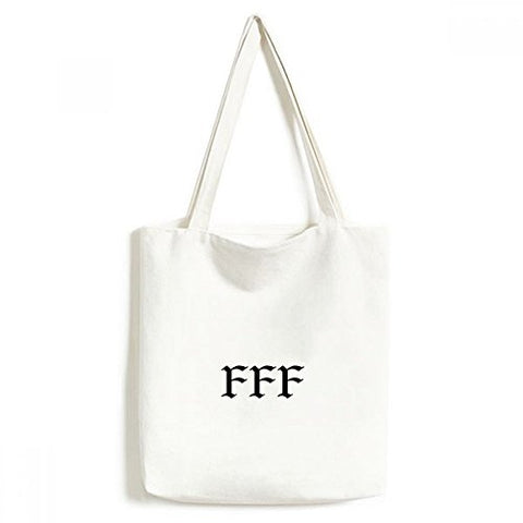 DIYthinker FFF Fury of Single Environmentally Washable Shopping Tote Canvas Bag Craft Gift 33 * 40cm Multicolor