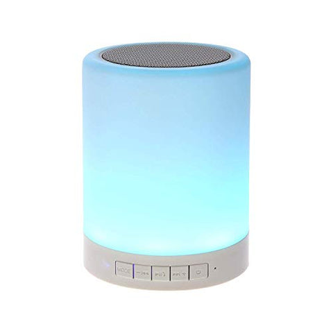 Piesome LED Touch Lamp Different Lighting Modes Wireless Bluetooth Speaker with TWS for Party Festival Camping(Multi-coloured)