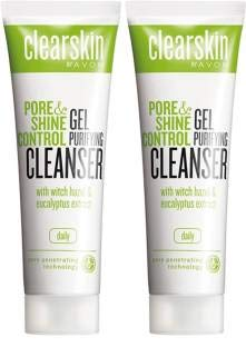 Avon Clearskin Pore & Shine Control Gel Purifying Cleanser (Set of 2, 125 ml each)