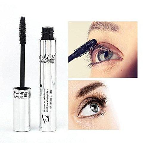 3D Fiber Lash Mascara By AOLVO,5ml Waterproof Mascara For Thickening & Lengthening,Smudge Proof Extension Visible Eyelash Makeup Tools,Black-Beauty-Aolvo-Helmetdon