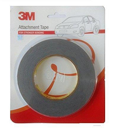 3M attachment tape Acrylic Foam Tape (Grey) Size: 12mm X 4 Mtr-car care-3M-Helmetdon