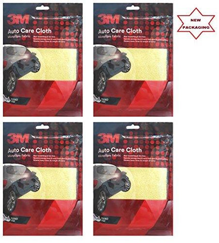 3M - Car Care - High Quality Microfibre Cloth - Microfiber Cleaning Cloth (Set of 4 Pcs)-HappeStop-Helmetdon