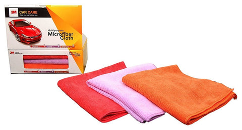 3M – Multipurpose Microfiber Cloth (Pack of 3) For Exterior, Glass & Interior Cleaning – Detailing Cloth-car care-3M-Helmetdon