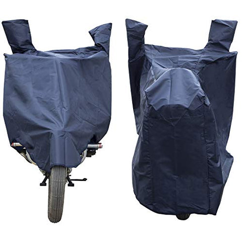 Autofact Bike Body Cover for Honda NXR 160 with Storage Pouch (210D Polyster Fabric - 100% Waterproof Quality, Navy Blue Color)