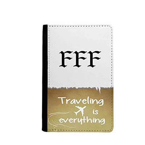 FFF Fury of Single Traveling quato Passport Holder Travel Wallet Cover Case Card Purse