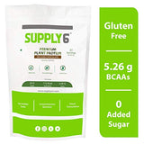 Supply6 Premium Plant Protein - Pea Protein Isolate with Essential Amino Acids - Vegan Friendly - Sugar & Gluten-Free - 1 Kg (Belgian Chocolate Flavour)