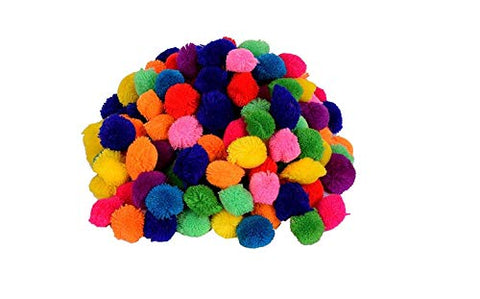 Vardhman Pom Pom Multicolor Wool Balls for Art & Craft, Decoration, Jewellery Making Pack of 230, 2.8 cm Dia