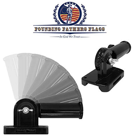 Black Outdoor Adjustable Flag Bracket