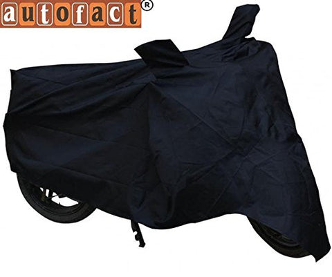 Autofact Black Bike Cover for Honda NXR 160 (Dust Proof, Scratch Proof, Mirror Pockets, Heavy Buckle)