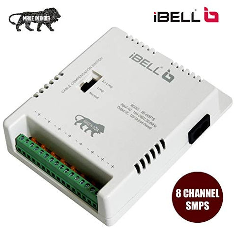 iBELL CP808 8 Channel SMPS for CCTV Output 150-285 V, Power Supply Adapter for up to 8 CCTV Cameras