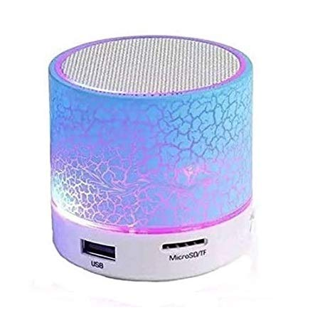 Generic S10 Wireless Led Portable Mini Bluetooth Speaker with Lightweight Design & Many More Features Like Aux,Sd-Tf Slot Also Fm Radio Support Compatible with All Android Smartphone & Window Devices