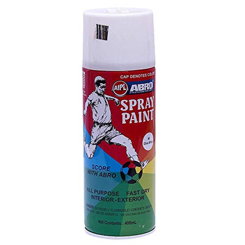 ABRO SP-40 Multipurpose Colour Spray Paint Can for Cars and Bikes (White, 400ml, 2 PCS)