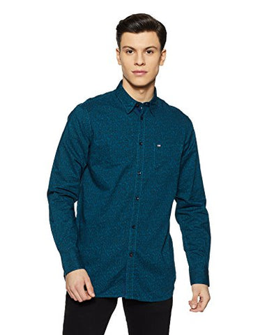 Arrow Sports Men's Regular Fit Cotton Casual Shirt (SH AS A17 SLM PHc PRI_Dk. Green_40)