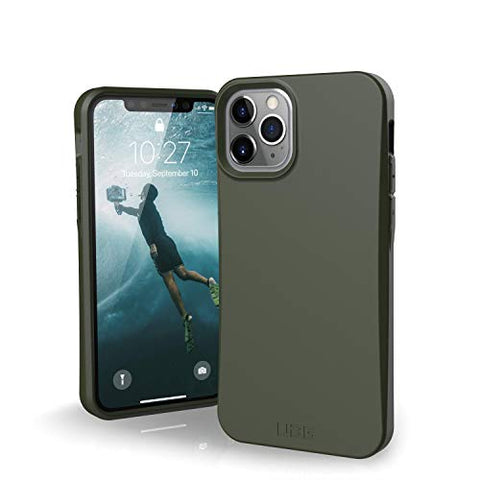 URBAN ARMOR GEAR UAG Designed for iPhone 11 Pro Case [5.8-inch Screen] Biodegradable Outback [Olive] 100% Biodegradable 100% Compostable Mindful Eco-Friendly Slim Protective Cover