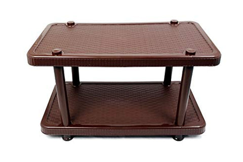 Esquire Plastic Centre Coffee Table/Cosy Table/Tea Table/Teapoy- Big (Colour May Vary as per Stock Availability-Black/Brown)