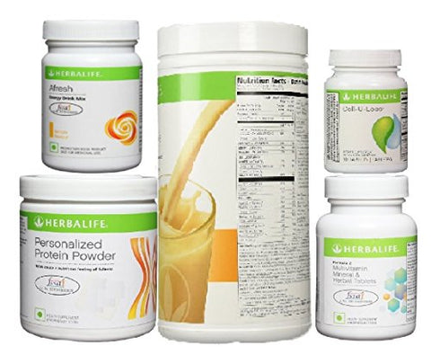 Herbalife Stay Fit Package This contains Formula 1 of Personalized Protein Powder(PPP), 1of Formula 2- Multivitamin, 1 of Cell-u-Loss