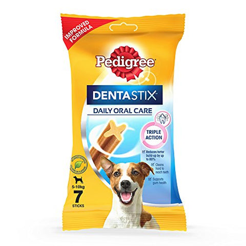 Pedigree Dentastix Small Breed (5-10 kg) Oral Care Dog Treat (Chew Sticks) (7 Sticks) 110g Weekly Pack