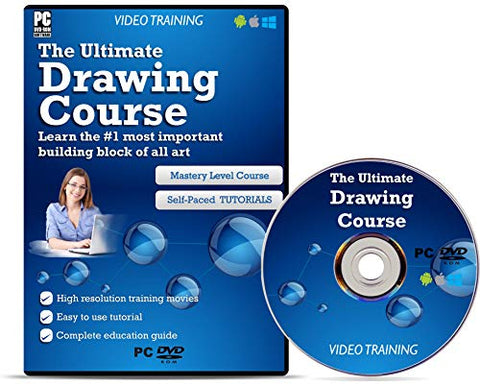 THE ULTIMATE DRAWING COURSE Video DVD – Fast Learning Self-Paced Tutorial High Quality Training Videos with Examples