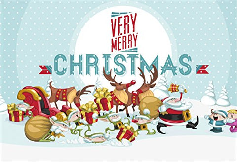 Merry Christmas Poster (Non Tearable Synthetic Material) 13x19 inch, Poster- CMP-2