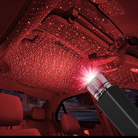 Azacus Adjustable USB Mini LED Roof Star Night Projector Atmosphere Lamp for Room Car (Multicolor)