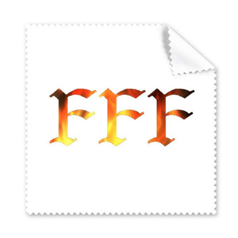 DIYthinker Flame Pattern FFF Glasses Cloth Cleaning Cloth Gift Phone Screen Cleaner 5pcs