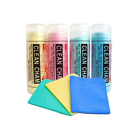 Amsik®Clean Cham Cleaning Towels Wet & Dry Cleaning Cloth (4 Pcs - Regular Size) for Tata Safari Storme