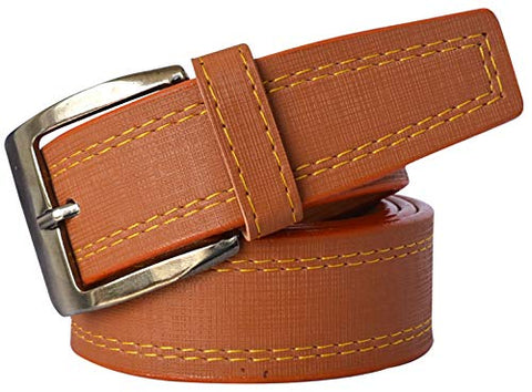 Sunshopping Men's Tan Formal Synthetic Belt (FFND-1-TN)