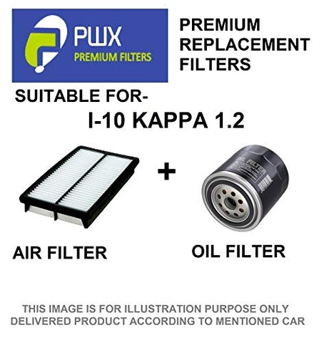 PWX Air Filter + Oil Filter For Hyundai i10 Kappa 1.2