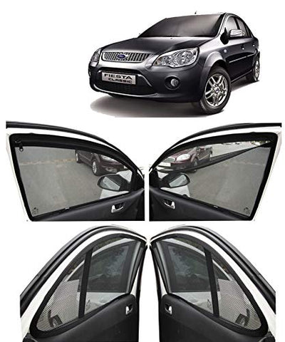 Autofact Car Accessories Zipper Magnetic Sunshades for Ford Fiesta Old Model (2005-2010)