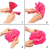 Party Propz Paper Pom Pom for Decoration 12 Inches Set of 5 Pcs (Golden)