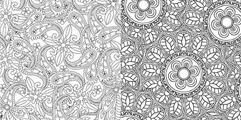 Rangoli: Stress-Relieving Art Therapy Colouring Book
