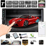 7in Screen Bluetooth Car Stereo MP5 Audio Video Player FM Radio USB AUX with 8LED Rear-view Camera with bluetooth Support Reverse Video Input-BESTVECH-Helmetdon