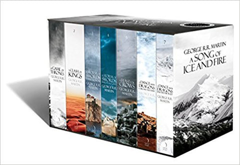 A Song of Ice and Fire - A Game of Thrones Boxset: The Story Continues (Set of 7 Books)-Books-TBHPD-Helmetdon
