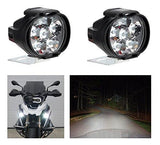 A2D L3C 6 LED Transformer Bumble Bee Style Bike Fog Light Lamp Assembly White MINI Set Of 2-Mahindra Duro 125-A2D-Helmetdon