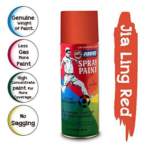 ABRO SP-14 Multipurpose Colour Spray Paint Can for Cars and Bikes (Jia Ling Red, 400ml)-Automotive Parts and Accessories-Abro-Helmetdon