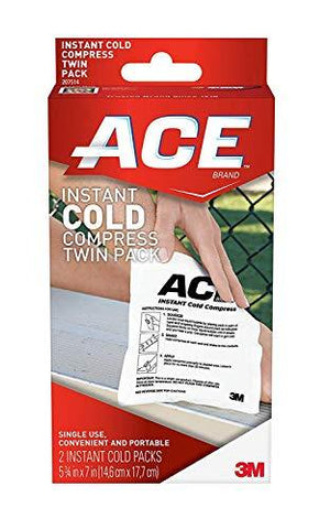 Ace Instant Cold Twin Pack (2 Per Pack), Helps Relieve Pain Caused by Sprains and Muscle Aches, Medium, 2 Pack-CE-ACE-Helmetdon