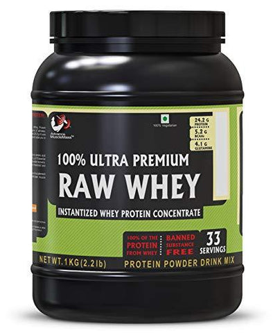 Advance Musclemass 100% Raw Whey Protein Supplement Powder (Unflavoured) 1 Kg 2.2 Lb (33 Servings)-Health and Beauty-Advance MuscleMass-Helmetdon