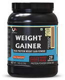 Advance MuscleMass Whey Protein Weight Gainer Supplement Powder, Chocolate, 1 Kg-Health and Beauty-Advance MuscleMass-Helmetdon